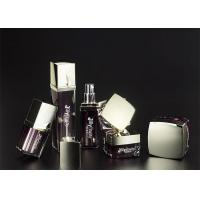 The jar square cap metal bottle body Burgundy  Empty Makeup Containers