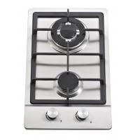 China Stainless Steel 2 Burner Gas Hob / Gas Stove Cast Iron Support Matel Knob wholesale