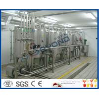China 2000L/H ISO standard SUS304 UHT long shelf life pure milk production line for aseptic carton box with PLC control on sale
