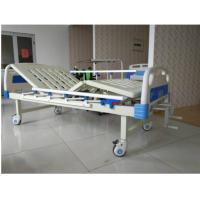 China Spray Steel 2 Cranks Manual Hospital Bed With ABS Headboard And Footboard wholesale