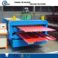 China High Efficiency Double Layer Roll Forming Machine With Automatic PLC Control System wholesale