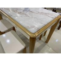 China Faux Marble Countertop Contemporary Dinette Sets With Comfortable Chairs wholesale