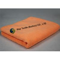 China Super Comfortable Absorbent Microfiber Cleaning Cloth Pink Orange on sale