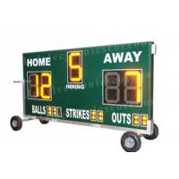 China 20'' 500mm Height Portable Baseball Scoreboard With Wheel Moving Stand wholesale