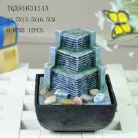 Small Artificial Hill Polyresin Water Fountain For Indoor Desk Decoration