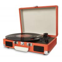 China 2014 portable colorful PU suitcase turntable record player with MP3 converter wholesale