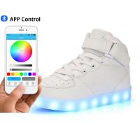 China Women Leather Led Fashion Shoes , High Top Electric Styles Led Shoes Sneaker wholesale
