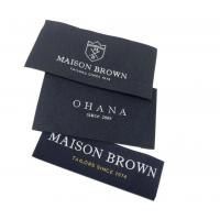 China Etiquette Textile Woven Personalised Fabric Labels End Folded Clothing Labels wholesale