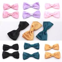 China Multi Color Soft Hair Clips , High Durability Fancy Baby Hair Bow Clips on sale