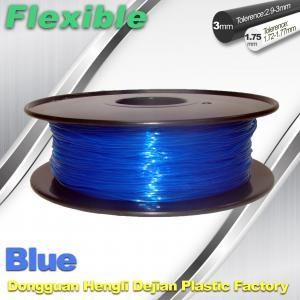 China High Soft TPU Rubber 3D Printer Filament 1.75mm / 3.0Mm In Blue wholesale