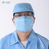 China Anti Static ESD Cleanroom strap Face Mask with adjustable stoppers folding safety mouth nose wholesale