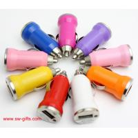 China Promotion Bullet Mini USB Car Charger Universal Adapter for iphone 5S 6 6S Plus Samsung wholesale