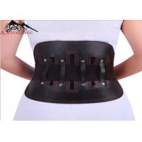 China Leather Steel Plates Lumbar Back Support Belt Relief The Pain Of Waist wholesale