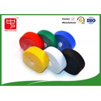 China Durable 30mm wide double sided hook and loop roll , back to back adhesive hook and loop roll various color wholesale