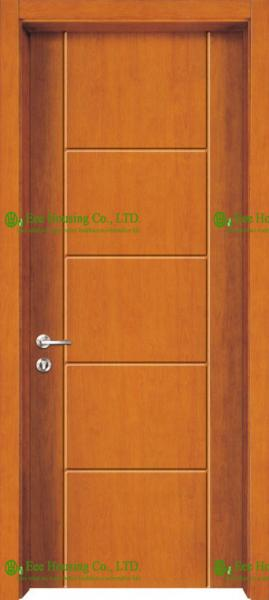 Quality Lacquer Finished Timber Veneer Wood Door For Bedroom, China luxury Solid Core Wood Doors for sale