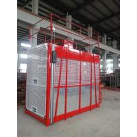 China 100m Single Cage Construction Hoist Elevator , Steel Galvanized Material wholesale