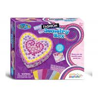 Buy cheap DIY Sticky Jewelry Box Arts And Crafts Toys Kit W / Glitter Gems Beads Age 5 from wholesalers