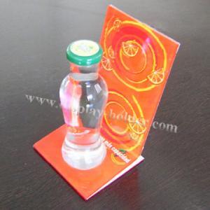Advertising Acrylic Plastic Bottle Holder