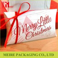 Christmas Gift packaging coated paper pillow boxes high grade recycled paper gift boxes