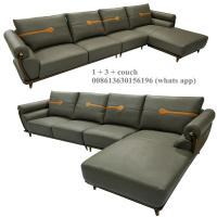 Quality B10# modern genuine leather sofa L shape sofa, living room couch chaise lounge, for sale