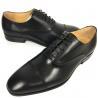 China Black Mens Leather Dress Shoes / Men Business Casual Shoes Lace Up Closure Type wholesale