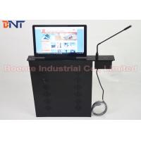 China Conference Room Meeting Microphone Slim LCD Monitor Screen Motorized Lift 17.3 Inch 1080P Screen wholesale