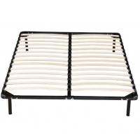 China High Strengthen Metal Bed Frame With Wooden Slats Detachable Style wholesale