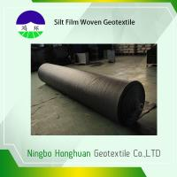 China Grab Tensile Geotextile Fabric For Roads , Black 136g Woven Polyethylene Fabric on sale
