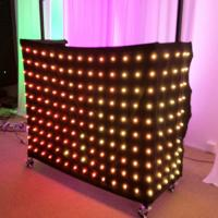 China 1 x 2m Rgb 3in1 Colorful LED Video Curtain , Professional Decoration LED Light Curtain wholesale