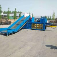 China Certificated 60-100T Double cylinder hydraulic baler hot sale horizontal baling machine wholesale