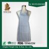 China Fashion Unisex Checker Yarn Dyed Cotton Bib Kitchen Apron With No Sleeve wholesale