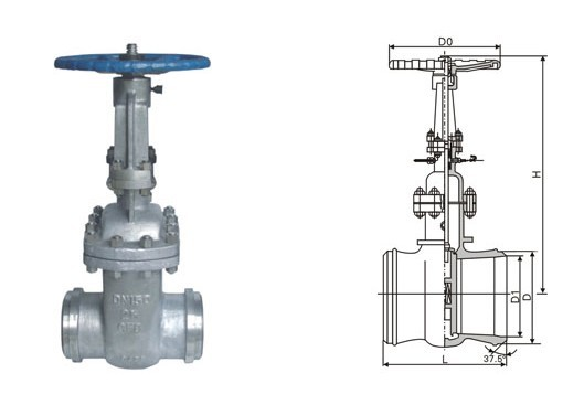 Quality DS / Z64H Pipeline Cast steel gate valve water sealed by flange and welding for sale