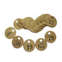 """China Pre-Numbered Tag Round Brass Interlocking Stencils 1/2"""" Black - Filled Numbers wholesale"""