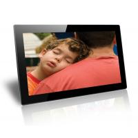 China Black 18.5 Inch Baby / Friends Wall Mounted Digital Photo Frame Supports SD / MMC Cards wholesale