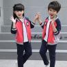 China Kids Kindergarten Primary School Uniforms Long Sleeve Stand Collar Sportswear wholesale