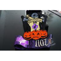 Buy cheap Halloween And Taekwondo, Shooting Sports Metal Award Medals With Colors And Black Nickel Plating from wholesalers