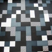 100% Poly Taffeta Print Fabric with Checks for Jacket, Leisure Suit, Coat Lining
