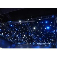 China AC220V Commercial LED Curtain Lights  Blue / White Bead Background Wedding Stage Star Cloth wholesale