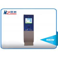 China Touch screen lobby dual screen free standing kiosk with A4 Printer wholesale