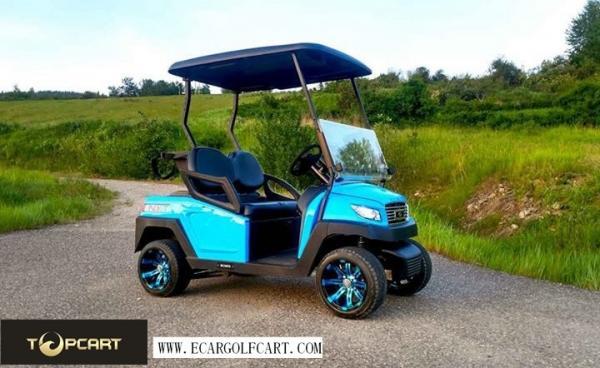 Quality Carro de serviço público com erros 2 Seater do golfe legal da estrada com bateria de 48 V, cor vermelha for sale