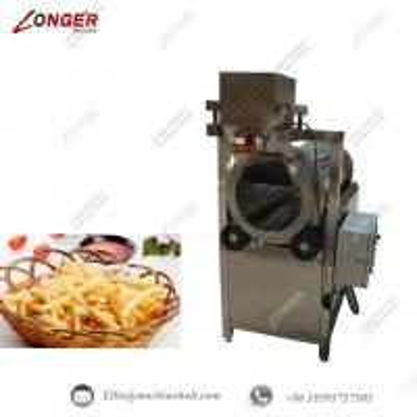 single drum french fries seasoning machine