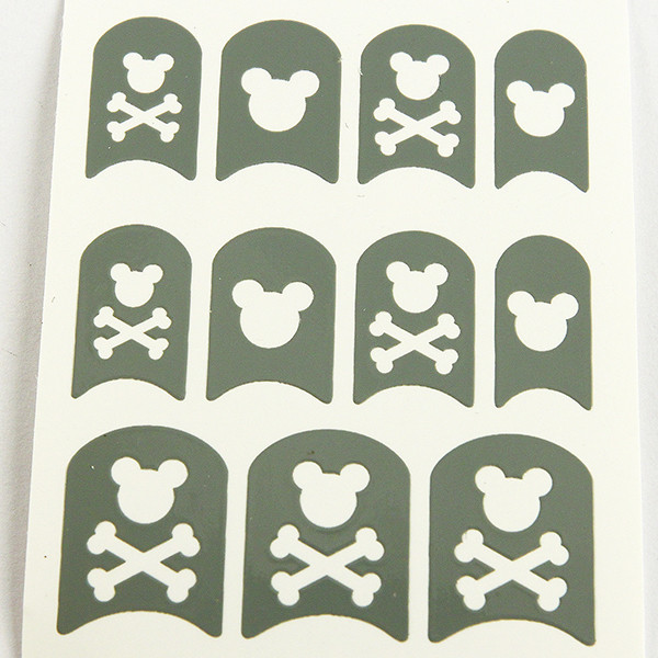 Quality Grey Halloween printing Nail Art Stencils Full Cover Type for sale