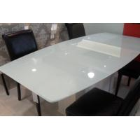 White Painted Table Top Glass EN12150 Standards Protect Furniture