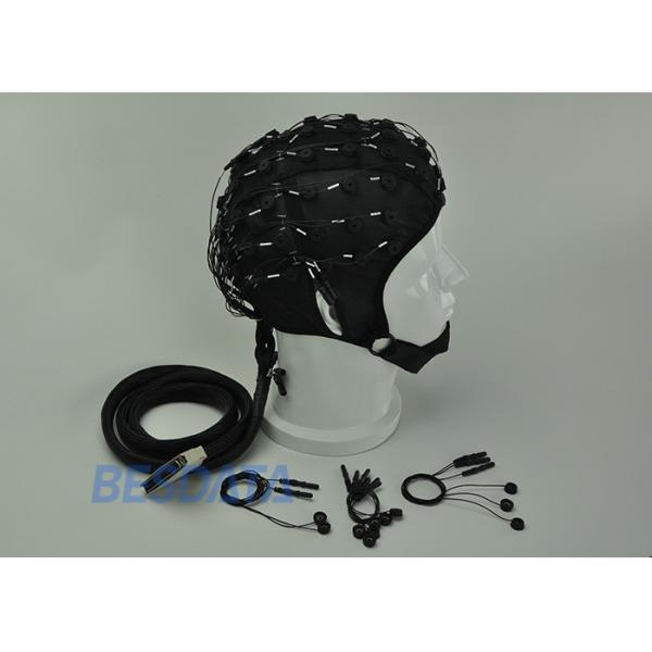 Quality High Precision EEG Electrode Cap With Different Sensor Electrodes 16 ~ 128 Channel for sale