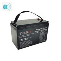 China High Capacity Bluetooth Lithium Battery 12v 80ah Lifepo4 Battery on sale