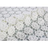 China Ivory Cotton Lace Fabric Guipure French Venice Lace Wedding Dress Fabric Openwork wholesale