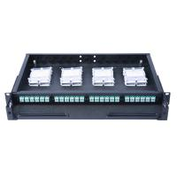China HD Distribution Fiber Optic Patch Panel 96 Fiber 48 Ports Loaded With Duplex LC Adapter wholesale