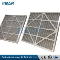Low Resistance Industrial HEPA Filter , Easy Installation V Bank Air Filter With Paper Frame