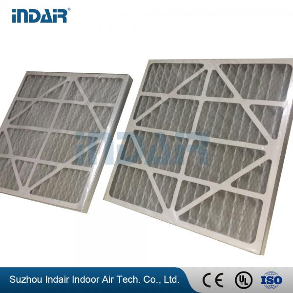 Quality Low Resistance Industrial HEPA Filter , Easy Installation V Bank Air Filter With Paper Frame for sale