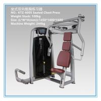 China Commercial Pin Loaded Gym Equipment , Chest Press Equipment Vapour Pressure Type wholesale
